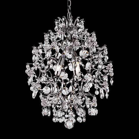 "Enna 16"" Wide Polished Chrome 3-Light Chandelier"