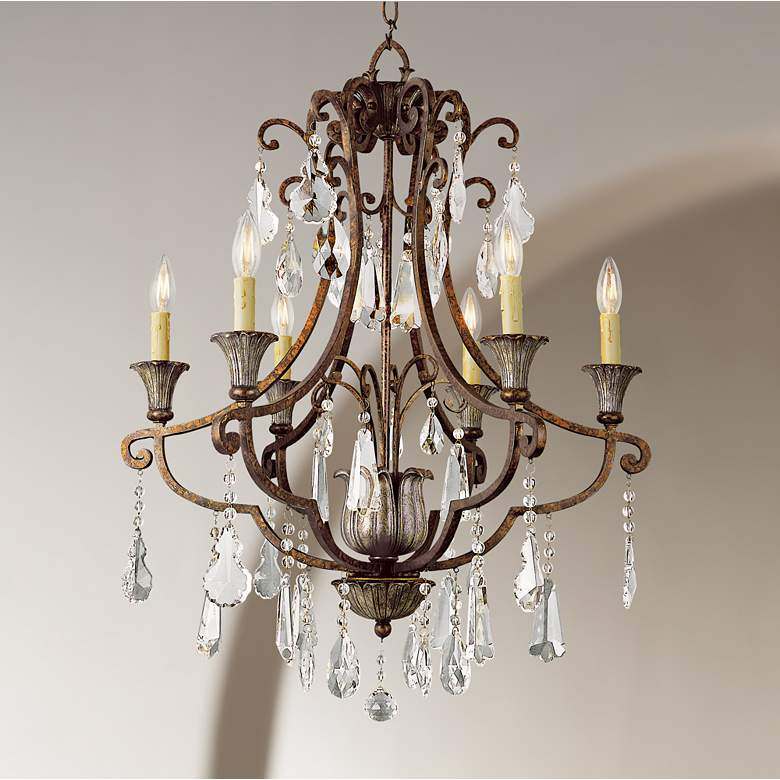 "Charlevoix 25 1/2"" Wide Antique Bronze 6-Light Chandelier"