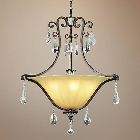 "Chatsworth 25-3/4"" Wide Antique Bronze 5-Light Chandelier"