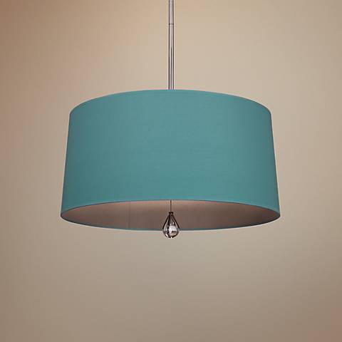 "Custis Collection 25 1/2"" Wide Mayo Teal Pendant"