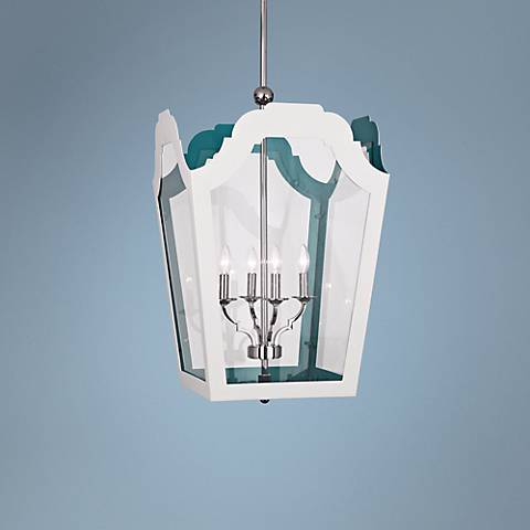 "Tayloe 19 3/4"" Wide White Pendant Light"