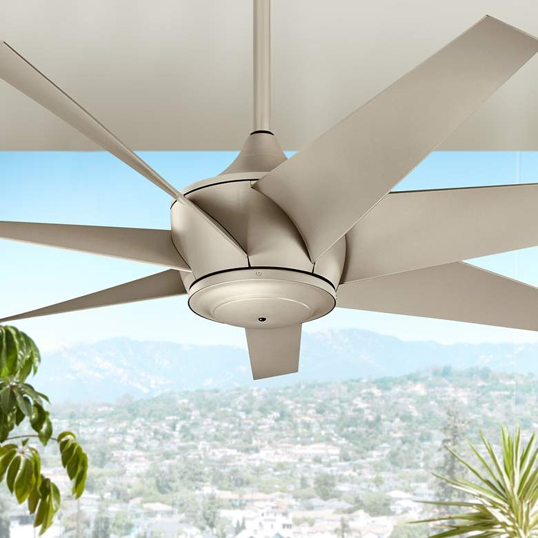 "54"" Kichler Lehr II Climates Silver Outdoor Ceiling"
