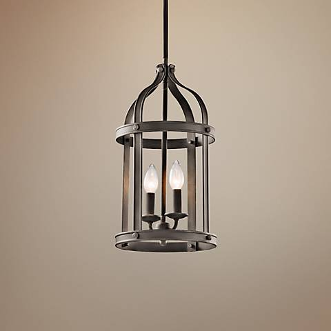 "Kichler Steeplechase 13"" Wide Old Bronze Pendant Light"