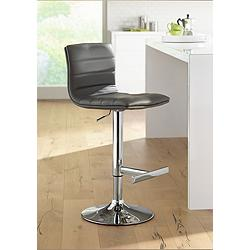 Motivo Gray Faux Leather Adjustable Swivel Barstool