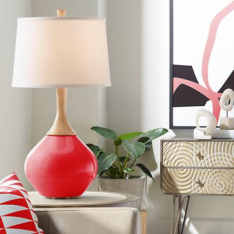 Bright Red Wexler Table Lamp