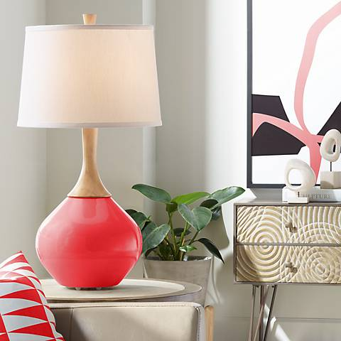 Poppy Red Wexler Table Lamp