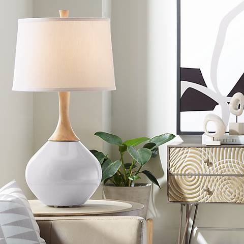 Swanky Gray Wexler Table Lamp