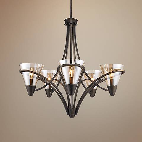 "Olympia 26"" Wide Burnt Sienna 5-Light Chandelier"