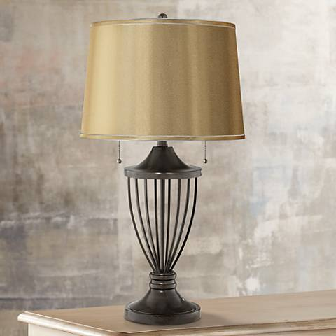 Sydnee Gold Satin Bronze Urn Table Lamp