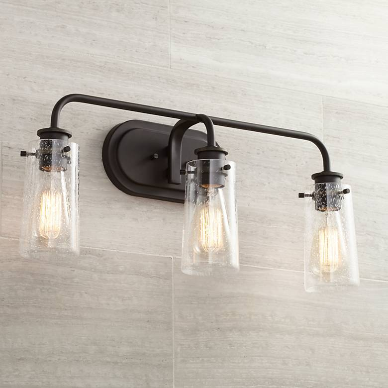 "Kichler Braelyn 24"" Wide Olde Bronze 3-Light Bath Light"