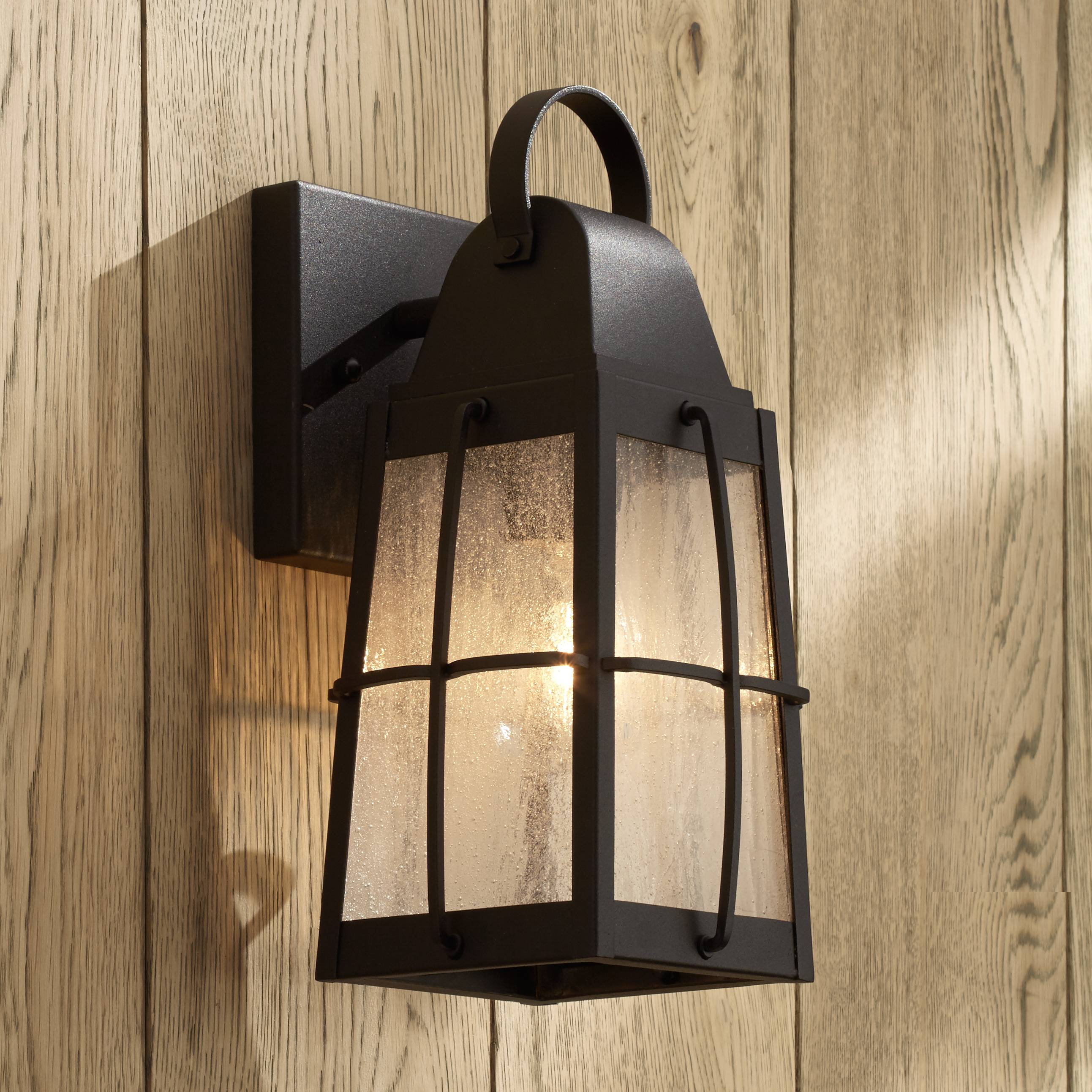 Kichler tolerand seedy 12 high black outdoor wall light
