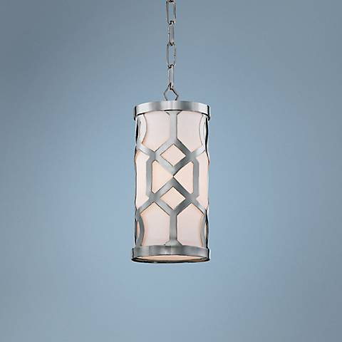 "Jennings Collection 6 1/4"" Wide Polished Nickel Mini Pendant"