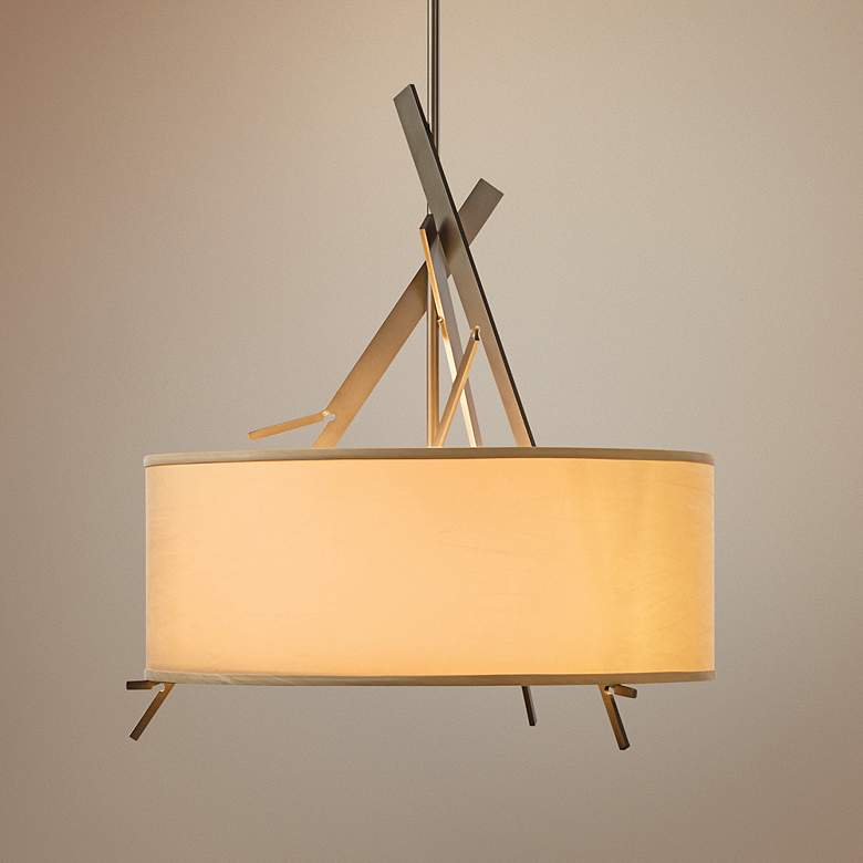 "Hubbardton Forge Arbo 24"" Wide Drum Shade Pendant"
