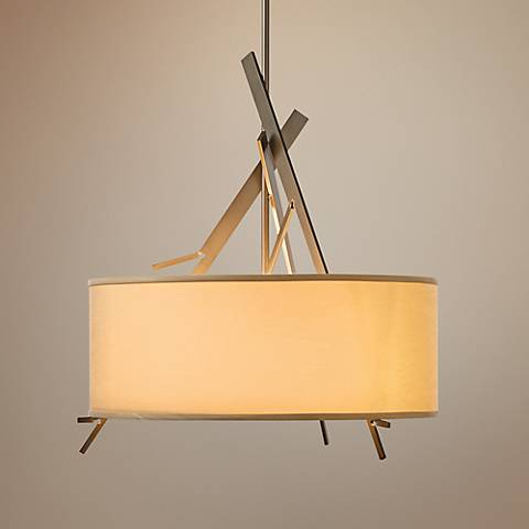 "Hubbardton Forge Arbo 24"" Wide Drum Shade Pendant Light"