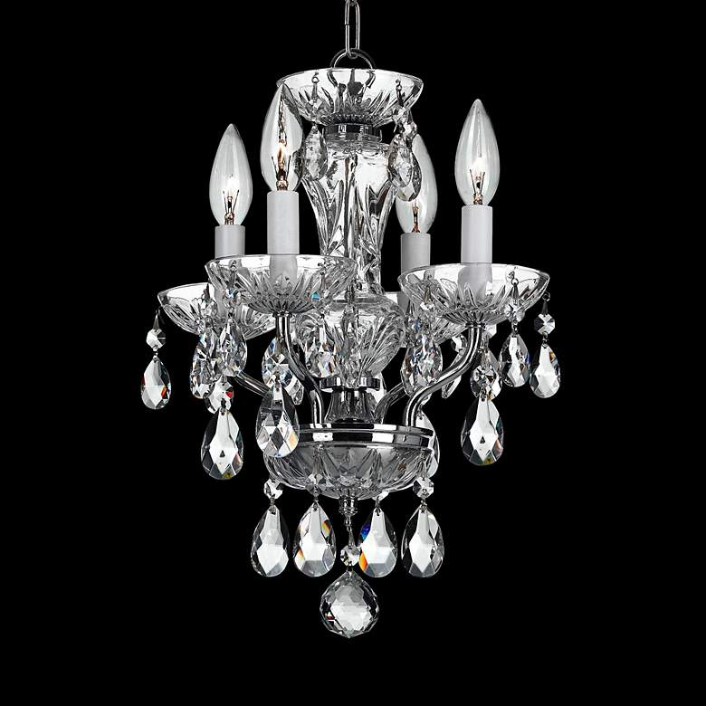 "Crystorama Traditional Crystal 11""W Chrome Mini Chandelier"