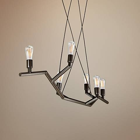 "Tech Lighting Akimbo 36"" Wide Bronze Linear Pendant"