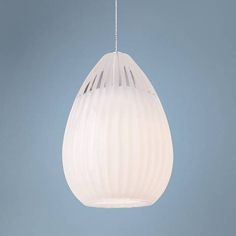 Tech Lighting FreeJack Ava White Glass Mini-Pendant