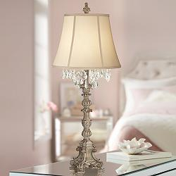 Duval French Crystal Candlestick Table Lamp