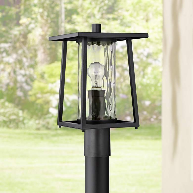 "Quoizel Lodge 16"" High Black Outdoor Post Light"