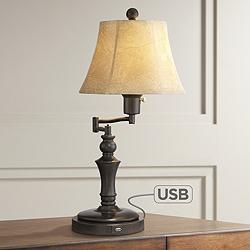 Corey Swing Arm Desk Lamp with USB Port