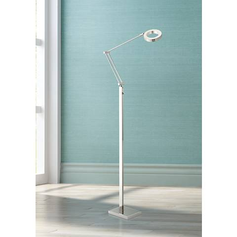 Possini Euro Lusk LED Task Floor Lamp