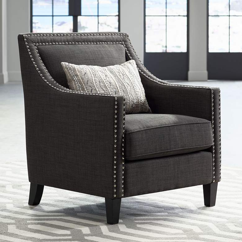 Flynn Heirloom Charcoal Upholstered Armchair