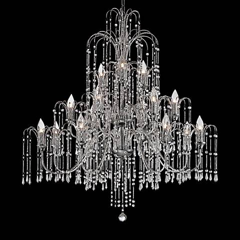 Wallingford 16 wide antique brass and crystal chandelier w6879 wallingford 16 wide antique brass and crystal chandelier w6879 lamps plus aloadofball Images