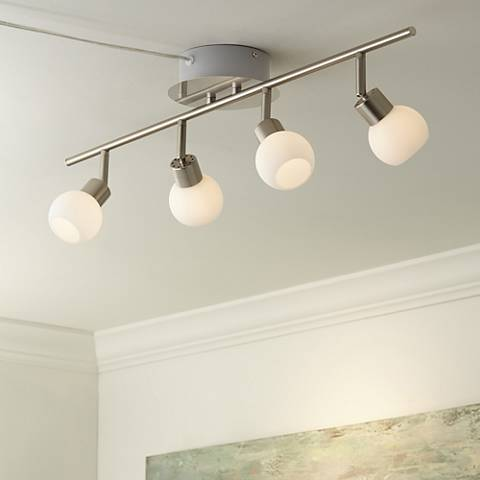 Pro Track® Globe Nickel 4-Light LED Plug-In Track Fixture