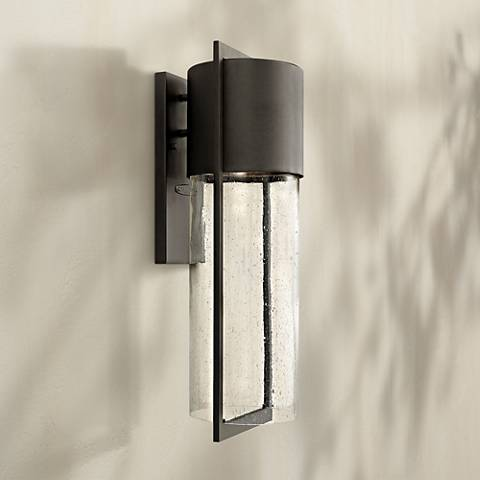 "Hinkley Shelter 23 1/4""H LED Black Outdoor Wall Light"