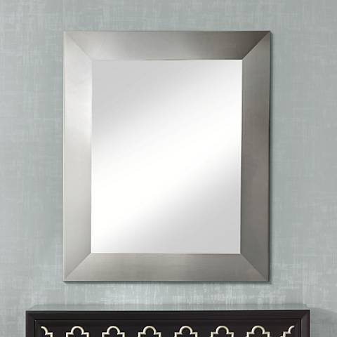 "Ailey Silver Wide 39 1/2"" x 45 1/2"" Wall Mirror"