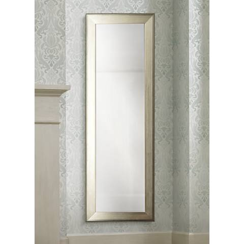 "Lizton Brushed Silver 27"" x 65"" Full Length Mirror"