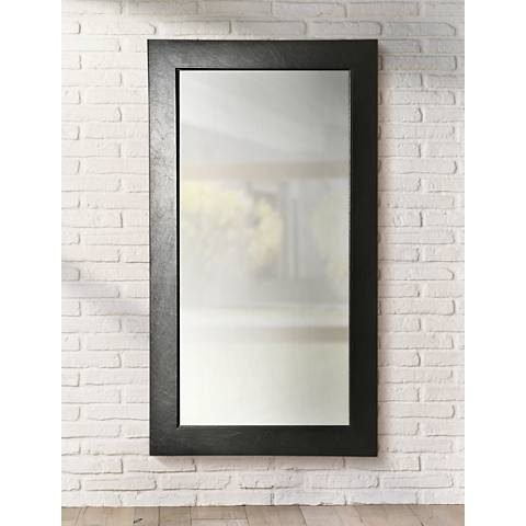 "Wisner Black Superior 30"" x 65"" Full Length Floor Mirror"