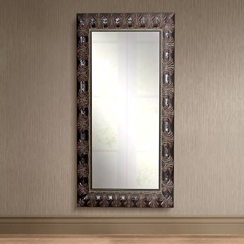 "Grantly Mahogany Accent 31 1/2"" x 66 1/2"" Full Length Mirror"