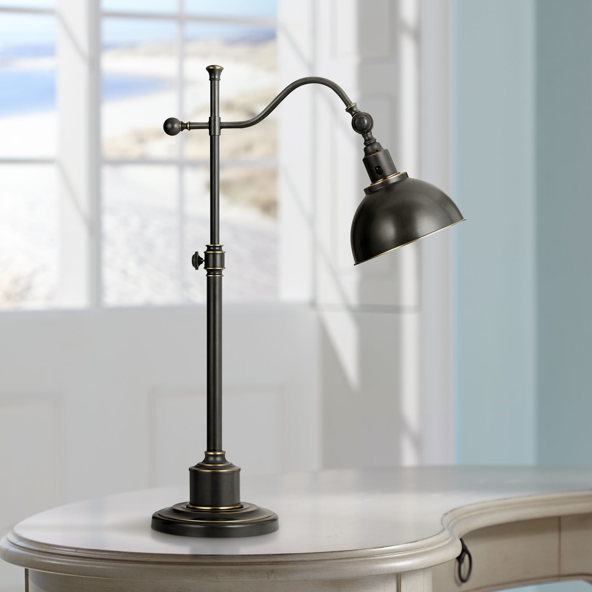 Portico Oil Rubbed Bronze Adjustable Pharmacy Desk Lamp