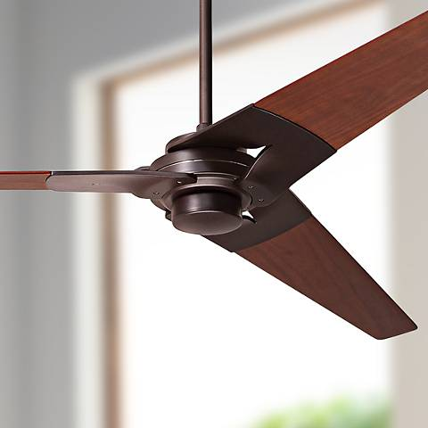 "62"" Modern Fan Torsion Mahogany - Dark Bronze Ceiling Fan"