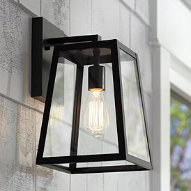 Arrington 13 High Gl And Mystic Black Outdoor Wall Light