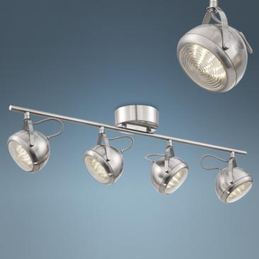 Pro Track Round Back 4-Light LED Nickel Ceiling Fixture