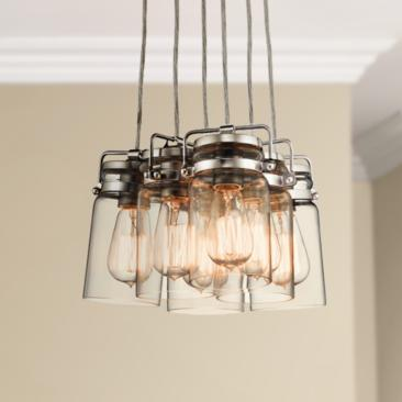 "Kichler Brinley 12"" Wide Brushed Nickel 6-Light Mini Pendant"
