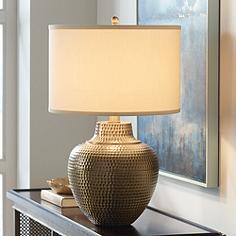 Brass table lamps lamps plus maison loft antique brass table lamp by franklin iron works aloadofball