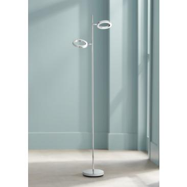 Possini Euro Gillette 2-Light Chrome LED Floor Lamp