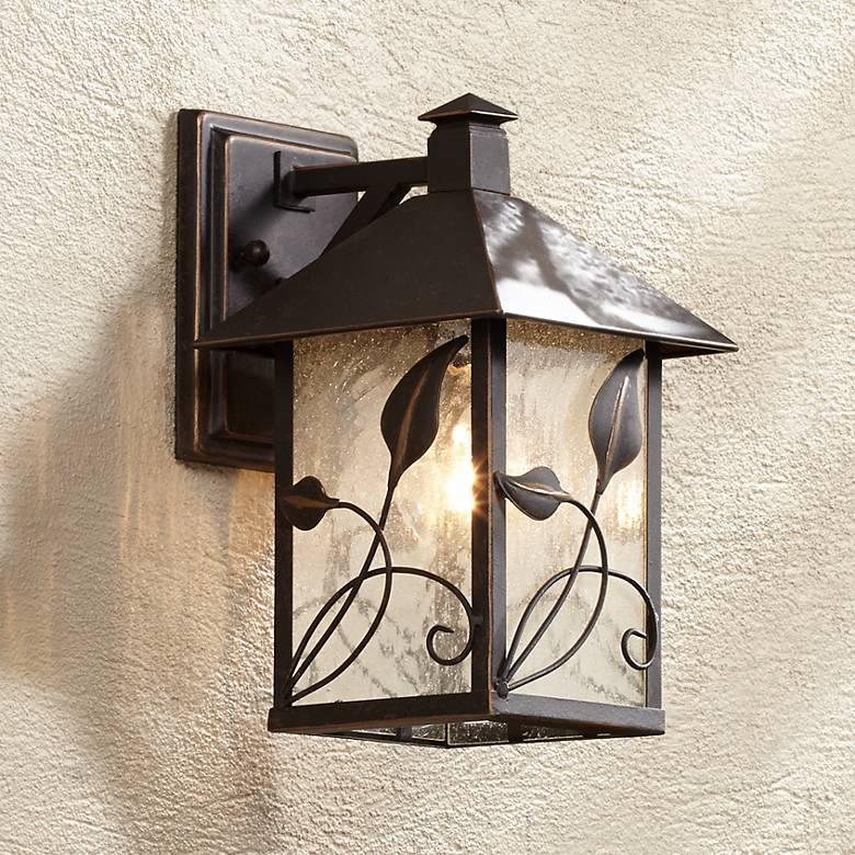 "French Garden 10 1/2"" High Bronze Outdoor Wall Light"
