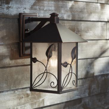 "French Garden 12 1/2"" High Bronze Outdoor Wall Light"