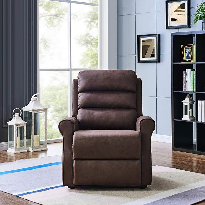 ProLounger® Chocolate Nubuck Power Lift Recliner Chair