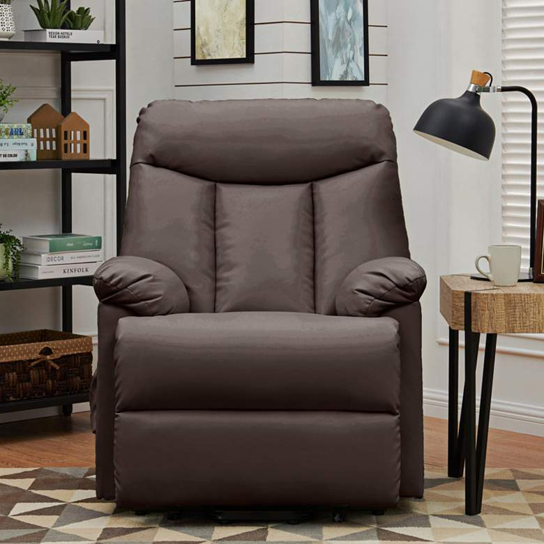 ProLounger® Brown Renu Leather Power Recline Lift Chair