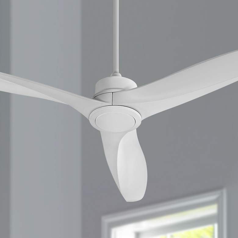 "60"" Quorum Kress Studio White Ceiling Fan"