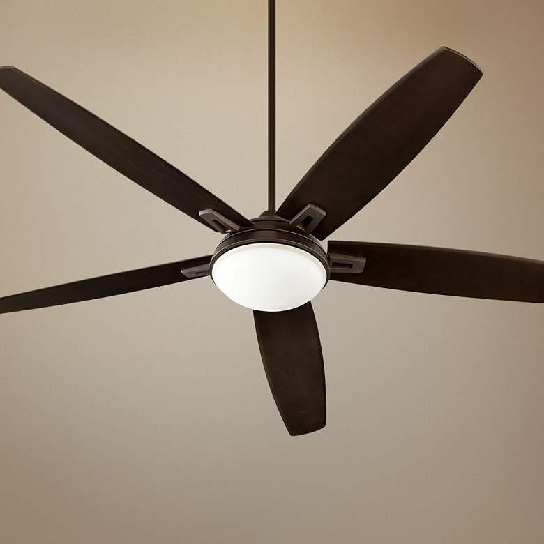"72"" Quorum Vector Oiled Bronze LED Ceiling Fan"