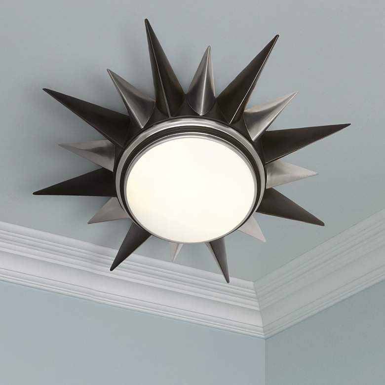 "Cosmos 20""W Patina Bronze and Antique Silver Ceiling"