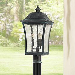 "Quoizel Bardstown 25 1/4"" High Aged Verde Outdoor Post Light"