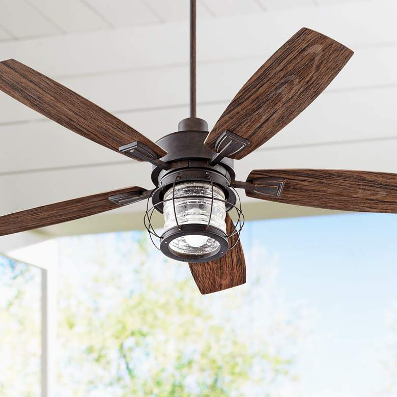 "52"" Quorum Galveston Toasted Sienna Patio Ceiling Fan"