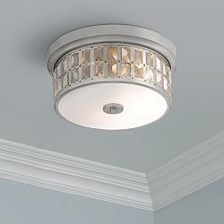 "Possini Euro Ennis 13 1/4"" Wide Crystal Ceiling Light"